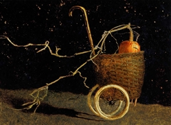 Mischief Night - Jamie Wyeth print pumpkin basket buggy