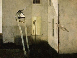 Slight Breeze andrew wyeth, print, wind, bell, laundry